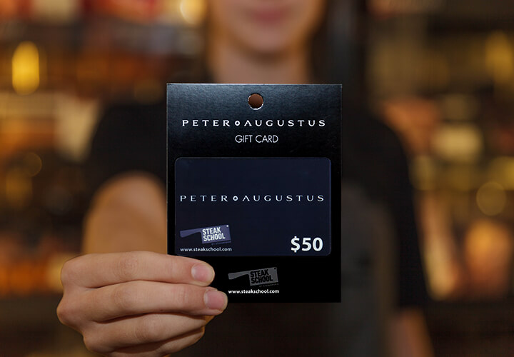Buy a Peter Augustus gift card